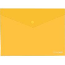 "Папка А5 прозрачная кнопку Economix, 180 мкм, фактура ""глянец"", желтая"