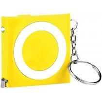 Рулетка-брелок BOBI, желтая