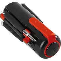 Отвертка FIXER с фонариком, красная