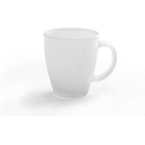 Чашка скляна матова FROST, біла