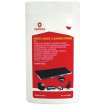 Серветки для очищення універсальні, вологі, 100 шт, плоска туба
