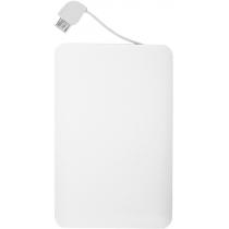 Портативное зарядное устройство POWER CARD 2500 mAh, белый