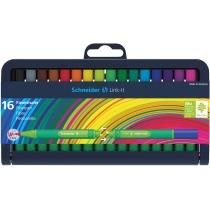 Набор мини фломастеров Schneider LINK-IT 16 цветов