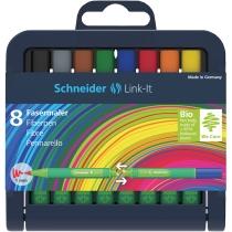 Набор мини фломастеров Schneider LINK-IT 8 цветов