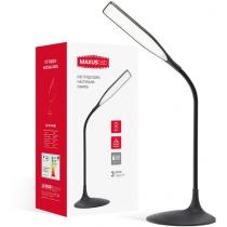 Лампа настольная светодиодная MAXUS DKL 6W Square черная