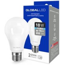 Лампа светодиодная A60 10W 4100K 220V E27 AL, Global Источники света