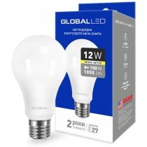 Лампа світлодіодна A60 12W 3000K 220V E27 AL, Global Джерела світла