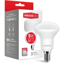 Лампа светодиодная R50 5W 3000K 220V E14, MAXUS LED