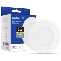 Світильник світлодіодний SPN 3W 3000K C, Global Джерела світла