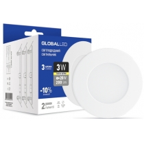 Світильник світлодіодний SPN 3W 3000K C (3шт в уп.), Global Джерела світла