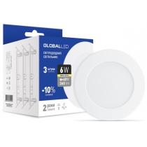 Світильник світлодіодний SPN 6W 3000K C (3шт в уп.), Global Джерела світла