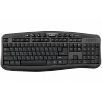 Клавиатура проводная CBR KB 236HM, USB 2 порта 104 + 8 доп. кл. переключатель языка одной кнопкой