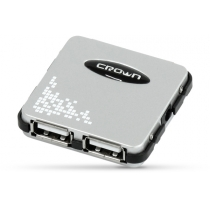 Концентратор CROWN USB CMH-B07 серебристый