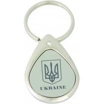 Брелок металлический с нанесением UKRAINE