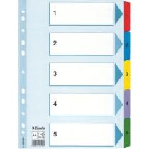 Разделители Esselte картонные, Mylar, А4 1-5