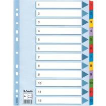 Разделители Esselte картонные  Mylar, А4 1-12