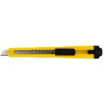 Нож канцелярский 9 мм Economix, пласт. корпус, желтый