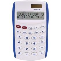 Калькулятор карманный Optima 8 разрядов, размер 123 * 77 * 14 мм, бело-синий