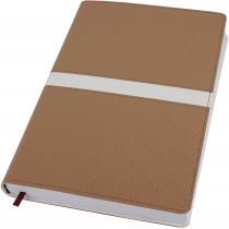 Діловий записник, Armonia, А5,м'яка обкладинка, золотий з білою полосою, кремовий блок