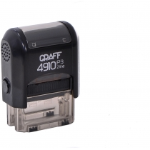 "Оснастка автомат., GRAFF 4910 P3 ""GLOSSY"" пласт., для штампа 26х10мм, чорна"