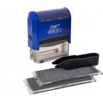 Штамп самонаборной GRAFF 4913 P3 DIY 5 ряд., 58х22 мм (2 каса), економупаковка