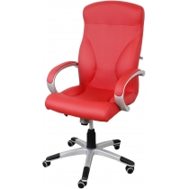 Кресло RIGA P ECO-90, Экокожа ECO, красный, Пластю База