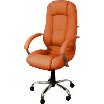 Крісло MODUS STEEL CHROME (TILT) ECO-72, штучна шкіра, помаранчеве