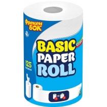 Полотенца бумажные 2 слоя Фрекен Бок, кухонные, 1 рулон, 125 листов, центральная вытяжка