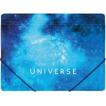 """Папка пластиковая А4 на резинках Optima """"Universe"""", ассорти"""