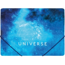 "Папка пластикова А4 на гумках Optima ""Universe"", асорті"
