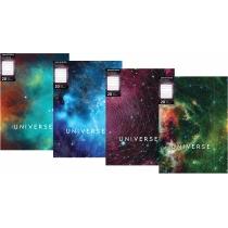 """Папка А4 с 20 файлами Optima """"Universe"""", ассорти, 600 мкм"""