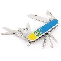 Нож Victorinox Army Climber, 91 мм, 14 функций, желто-синий, трезубец