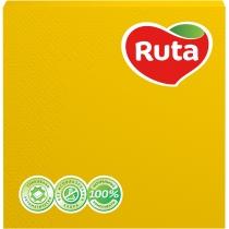 Салфетки бумажные RUTA Колор, 3 слоя, 20 шт, желтые
