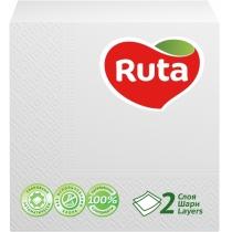Салфетки бумажные RUTA Double Luxe, 2 слоя, 40 шт, белые