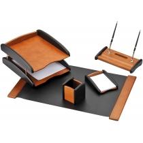 Набор настольный деревянный из 5 предметов с 2 ручками
