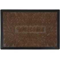 Килимок придверний з візерунком Welcome коричневий, поліпропілен, ТМ МД, 40 * 60 см