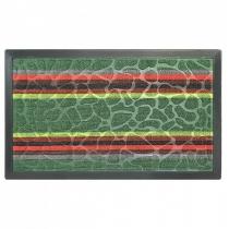 Коврик придверный с узором зеленый полосатый, полипропилен,ТМ МД,45*75 см