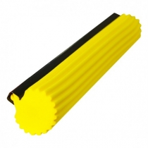 Губка для швабры SUPERMOP 27 см твердая желтая