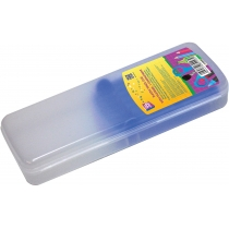 Пенал пластиковый с застежкой, 8011