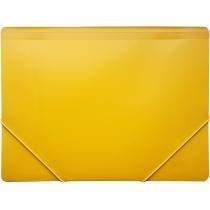 Папка пластиковая для документов А4 на резинках под нанесение, желтая