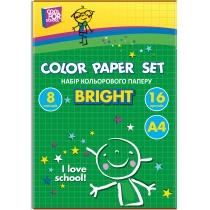 """Набор цветной бумаги """"CFS"""", А4 16л., 8 цв., 45 г/м2"""