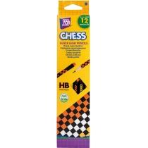 """Карандаш графитный с цветным ластиком, """"Chess"""""""