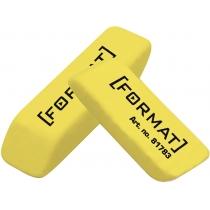 Ластик для карандаша 40*12*10 мм, желтый