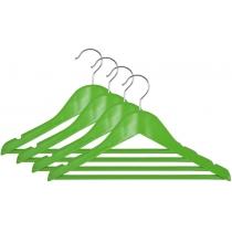 Вешалка подростковая МД для одежды, зеленая, набор 4 шт