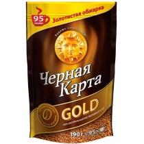 Кофе растворимый Черная карта Gold сублим. пакет, 190г