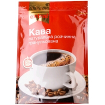 Кава Extra! розчинна натуральний економ пакет, 70г