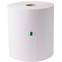 Протирочная бумага 2 слоя Eco Point, в рулоне 300 м, промышленная, белая
