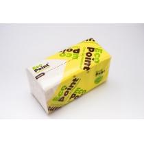 Полотенца бумажные 2 слоя V сложения Eco Point Standart, 160 шт, белые