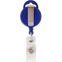 Тримач для бейджа Optima з рулеткою , синій, форма кола