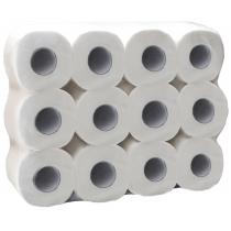 Туалетная бумага 2 слоя Eco Point 24 рулона, белая